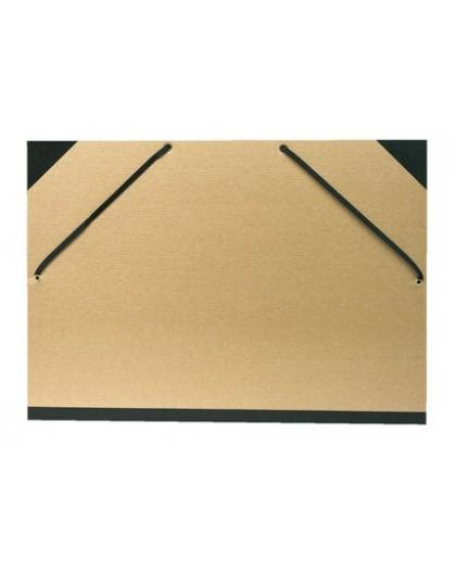 Tekeningenmap met elastiek - grijs karton