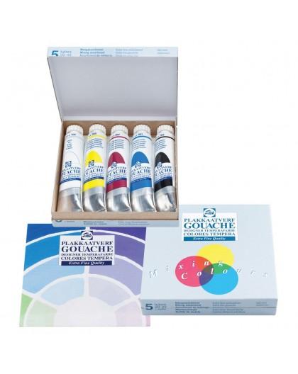 Talens plakkaatverf EFQ - set primaire kleuren