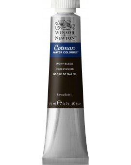 Cotman Ivory Black - tube 21ml