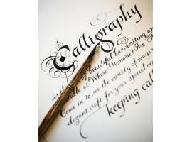Diverse benodigdheden voor kalligrafie