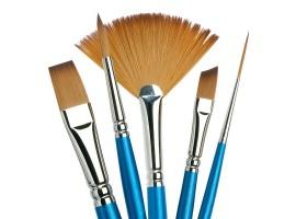 Synthetische penselen met korte steel
