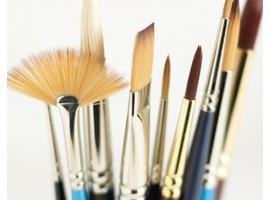 Synthetische penselen voor olieverf