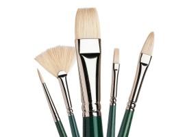 Natuurharen penselen voor acrylverf